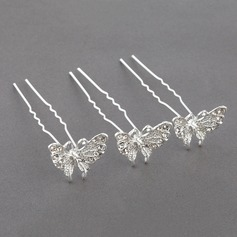 Glamourous Rhinestone/Alloy Hairpins(Set of 3)