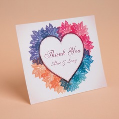 Personalized Heart Style Thank You Cards