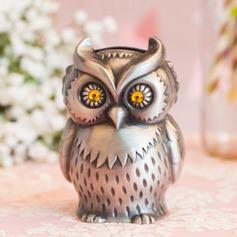 Amazing Owl Shaped Tin Alloy Piggy Bank
