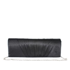 Gorgeous Satin/Silk With Ruffles Clutches