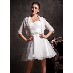 Half-Sleeve Chiffon Charmeuse Special Occasion Wrap