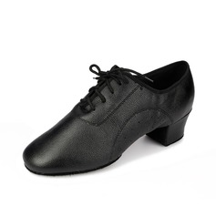 Men's Real Leather Heels Pumps Latin Dance Shoes