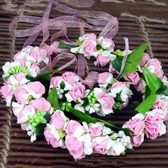 Simple And Elegant Round Satin Headdress Flower