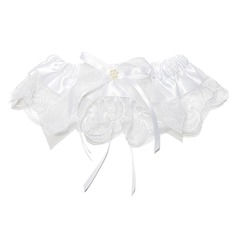 Lovely Satin Lace With Ribbons Wedding Garters