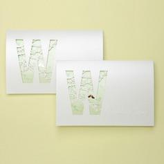 Vintage Style Tri-Fold Invitation Cards