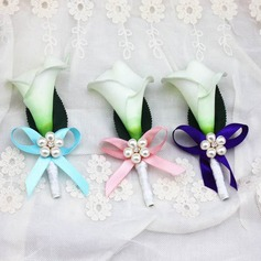 Delicate Free-Form Ribbon Boutonniere/Men's Accessories