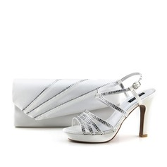Shining Satin Shoes & Matching Bags