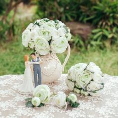 Elegant Round Artificial Silk Flower Sets