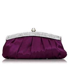 Gorgeous Silk/Crystal/ Rhinestone/Rhinestone Clutches/Wristlets