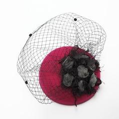 Ladies' Charming Autumn/Winter Net Yarn/Velvet With Silk Flower Fascinators
