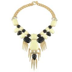 Stylish Alloy Resin With Rhinestone Ladies' Fashion Necklace