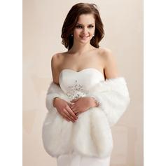 Faux Fur Wedding Shawl (013020426)