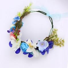 Elegant Fabric Flowers & Feathers