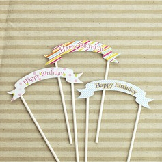 15 cm Happy Birthday Paper Cake Topper