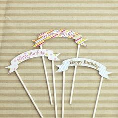 13 cm Happy Birthday Paper Cake Topper
