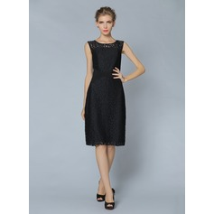 Polyester/Lace With Lace Knee Length Dress (199087064)