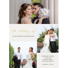 Modern Style/Photo Flat Card Invitation Cards