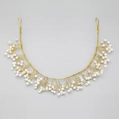Shining Alloy/Imitation Pearls Headbands