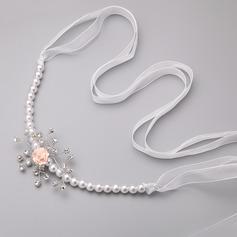 Fashion Imitation Pearls/Chiffon/Polymer Clay Headbands