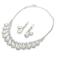 Magnificent Alloy/Pearl/Rhinestones Jewelry Sets