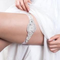 Gorgeous Rhinestones Imitation Pearls Wedding Garters