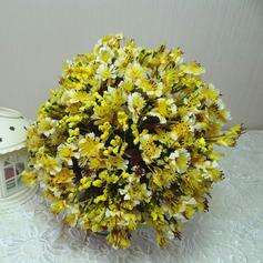 Delicate Hand-tied Cloth Bridesmaid Bouquets