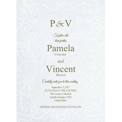 Vintage Style/Classic Style Flat Card Invitation Cards