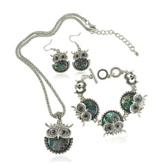 Cute Owl Alloy Shell Jewelry Sets