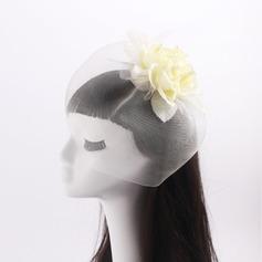 Ladies' Beautiful Silk Flower/Tulle With Imitation Pearls Fascinators