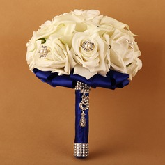 Pretty Round Ribbon/PE Bridal Bouquets