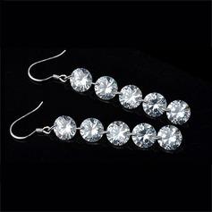Chic Alloy/Rhinestones Ladies' Earrings