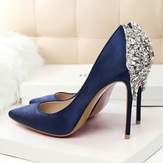 Women's Leatherette Stiletto Heel Pumps With Jewelry Heel shoes (085103774)