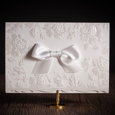 Personalized Classic Style Top Fold Invitation Cards With Bows