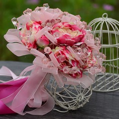 Romantic Organza/Artificial Silk/Acrylic Bridesmaid Bouquets