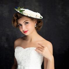 Ladies' Nice Linen With Flower Fascinators