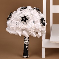 Elegant Satin Bridal Bouquets