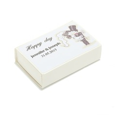 Personalized Bride And Groom Hard Card Paper Matchboxes