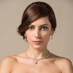 Exquisite Zircon/Platinum Plated Ladies' Jewelry Sets