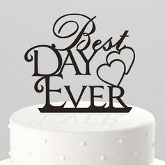 Heart & Letter Acrylic Cake Topper
