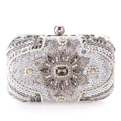 Unique Crystal/ Rhinestone/Rhinestone/Imitation Pearl Clutches/Bridal Purse