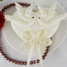 Love Birds Satin Wedding Cake Topper (Set of 4)