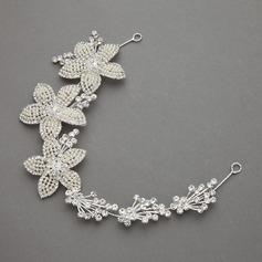Flower Shaped Alloy/Imitation Pearls Headbands