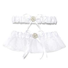 2-Piece Pure Organza With Beading Wedding Garters