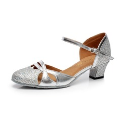 Women's Sparkling Glitter Heels Modern With Ankle Strap Buckle Dance Shoes