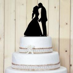 Figurine Kissing Couple Acrylic Wedding Cake Topper/Bridal Shower Cake Topper