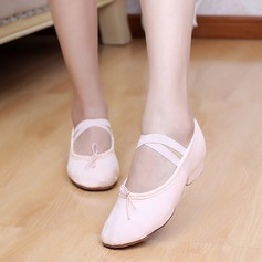 Women's Kids' Canvas Heels Ballet Dance Shoes