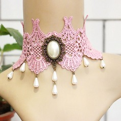 Beautiful Alloy Imitation Pearls Lace With Imitation Pearl Lace Ladies' Fashion Necklace