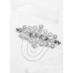 Stylish Ribbon Sash With Crystal/Rhinestones