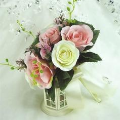 Delicate Round Artificial Silk Bridesmaid Bouquets
