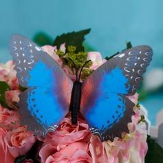 Blue Plastic Butterfly